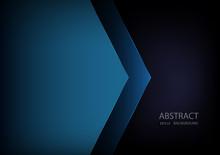 Blue Angle Arrow Overlap Vecto...