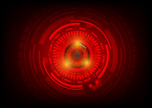 Red Eye Abstract Technology Circle