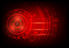 Red Eye Abstract Technology Ci...