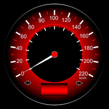 Red Speedometer Car, Abstract Technology
