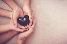 Hands And Red Heart, Health Insurance, Mending Broken Family, Mental Illness Health, Black Lives Matter, No Racism Concept