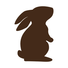 Cute Rabbit Character Silhouette