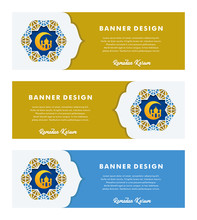 Set Of Banners Template With I...