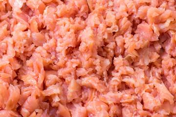 Chopped salmon tasty