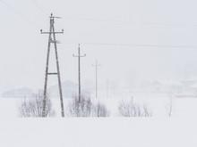 Power Lines In The Snowstorm In Ebbs, Tirol, Austria