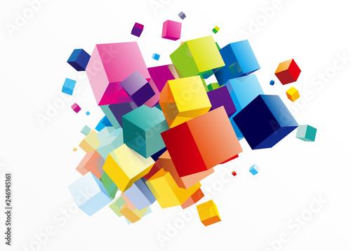 Obraz na plátně 立方体 イメージ デザイン
