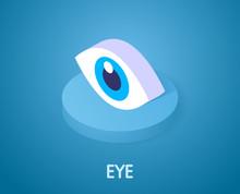 Eye Isometric Icon. Vector Illustration. 3d Concept