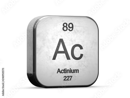 Photo Actinium element from the periodic table series