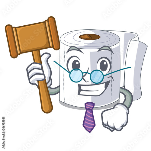 Fotografie, Tablou  Judge toilet paper isolated with the cartoons