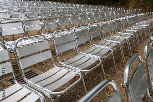 Chaises pour spectacle extérieur
