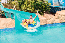 Child On Water Slide At Aquapa...