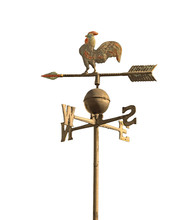 Wind Vane To Indicate The Wind Direction And The Metal Cock Abov