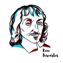 Rene Descartes Portrait