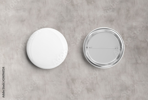 Poster Macarons Badge on concrete background 3D rendering