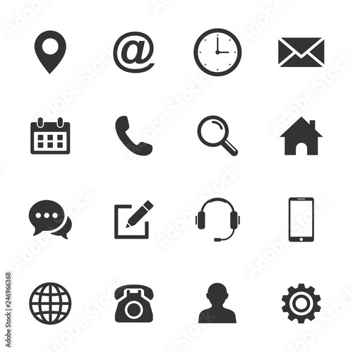 Fotografía  Web icon set. Set of web icon symbol vector
