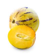 Pepino Melon Fruit Isolated On...