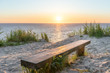 canvas print picture Sonnenuntergang an der Ostsee