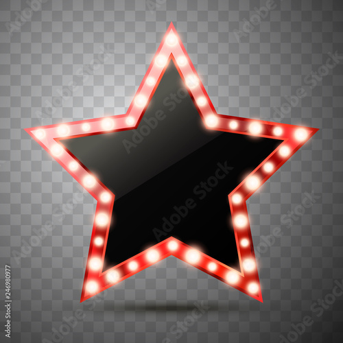 Photo  Star with lights isolated. Vector illustration