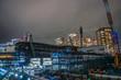 横浜・みなとみらいの高層ビル建設現場
