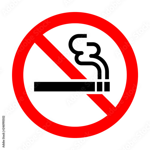Photo No smoke sign isolated on white background - Vector