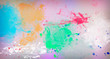 Abstract image with paint spots of different shapes.