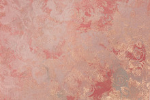 Beautiful, Abstract, Bright, Colored Surface Of The Plaster Wall As A Background And Texture. Possible To Use As A Stylized Surface With Space For Text