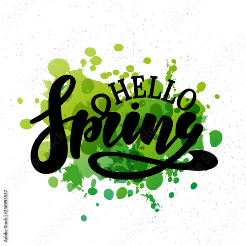 Fotografering  Hello Spring vector illustration
