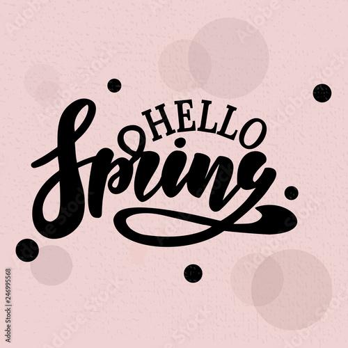 Valokuva  Hello Spring vector illustration