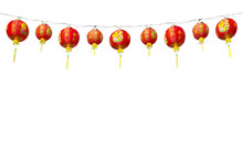 Chinese Red Lanterns On A Whit...