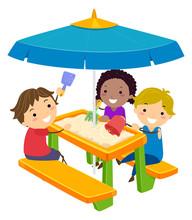 Stickman Kids Picnic Table San...