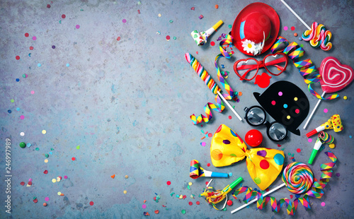 Deurstickers Carnaval Colorful carnival or birthday background