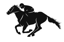 Vector Silhouette Of A Jockey ...