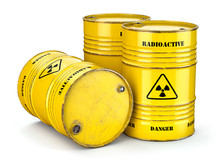 Barrels With Radioactive Waste...