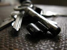 Macro Shot Of Old Key On A Key...