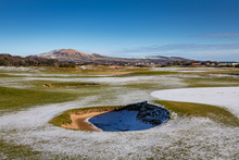 Leven Golf Course With A Light Dusting Of Snow
