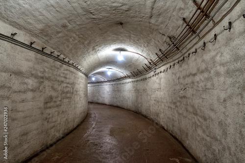 Photo  underground bunker, old underground Soviet military bunker under fortification
