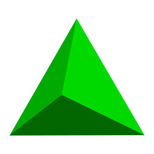 Lime Green Abstract Triangle Badge, Button Template With Flat Designed Shadow And Light Background For Internet Sites