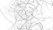 Leinwanddruck Bild - Hand drawing scrawl sketch. Abstract scribble, chaos doodle lines isolated on white background. Abstract illustration
