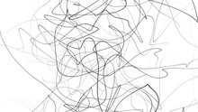 Hand Drawing Scrawl Sketch. Abstract Scribble, Chaos Doodle Lines Isolated On White Background. Abstract Illustration