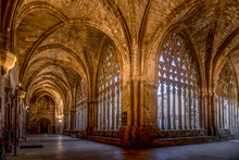 Lleida Lerida Old Gothic Cistercian Monastry And Cathedral On The Castell De La Suda,  La Seu Vella. The Most Distinctive Landmark Of The City In Catalonia.