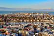 aerial view of Reykjavik Iceland