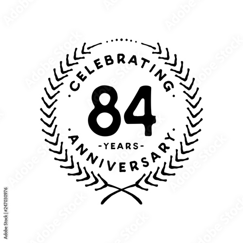 Photo  84 years design template. 84th vector and illustration