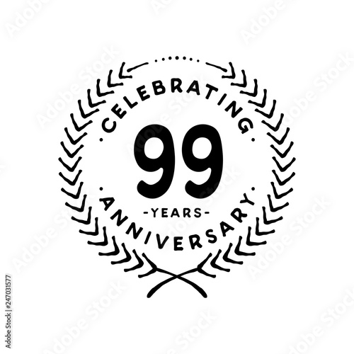 Photographie  99 years design template. 99th vector and illustration