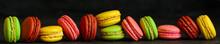 Macaron Or Macaroons Cookie, Tasty Dessert. Food Background