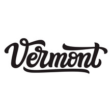 Vermont. Hand Drawn Lettering Text
