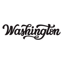 Washington. Hand Drawn Letteri...
