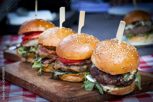 Burger Festival. Holiday meal. Lots of meat and bread