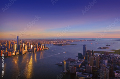 Poster New York City NYC aerial skyline view