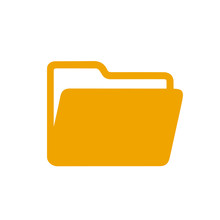 Folder Flat Icon Sign – Vector For Stock