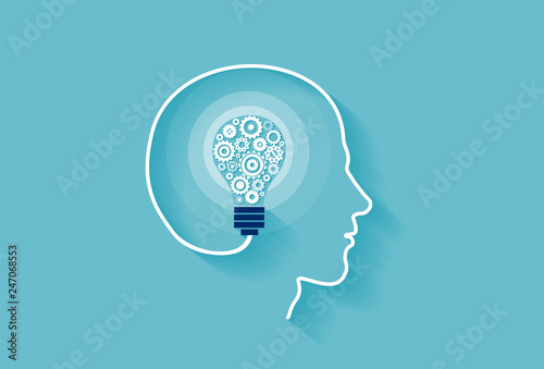 Vector of a human head with...